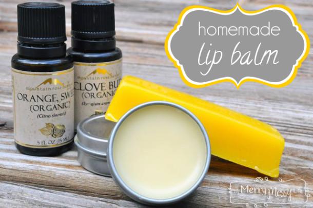 DIY How To Make Natural Homemade Lip Balm