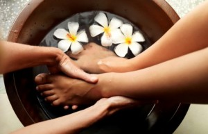 Foot Soak with Coffee