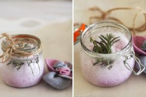 Homemade Bath Salt with Lavender