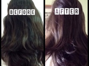 Homemade Hair Lightener for Dark Hair