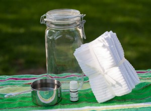 Homemade Dryer Sheets with Essential Oils