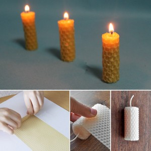 Making Hand Rolled Beeswax Candle Stick