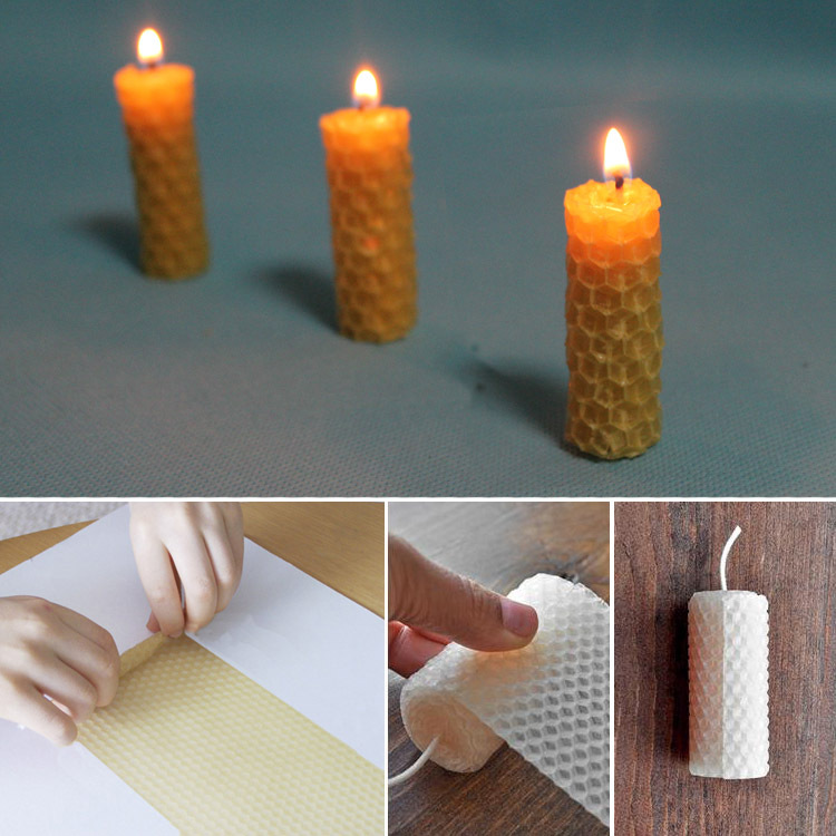 How To Make Diy Beeswax Candles Going Evergreen