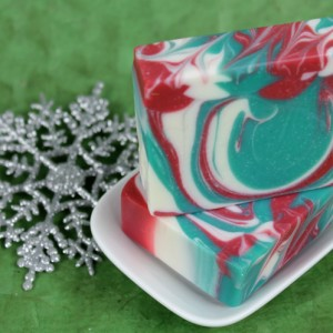 Hot Process Soap with Color Swirls