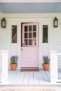 Lavender Plant Front Door